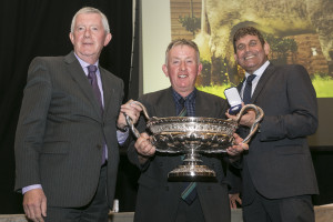 John Keane - Bushypark Herd receiving his award from Tom Kirley & Minister Andrew Doyle