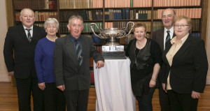 Andy O'Donoghue, Paddy & Kay O'Callaghan, Mary Purcell celebrating with John & Mary Keane